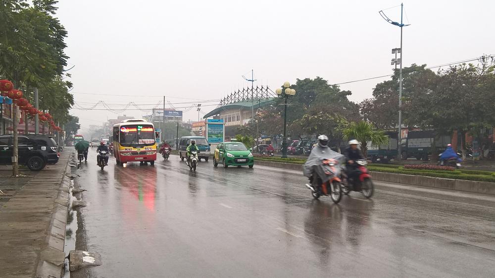 Ảnh hưởng của không khí lạnh, khu vực tỉnh Bắc Giang có mưa rào và dông